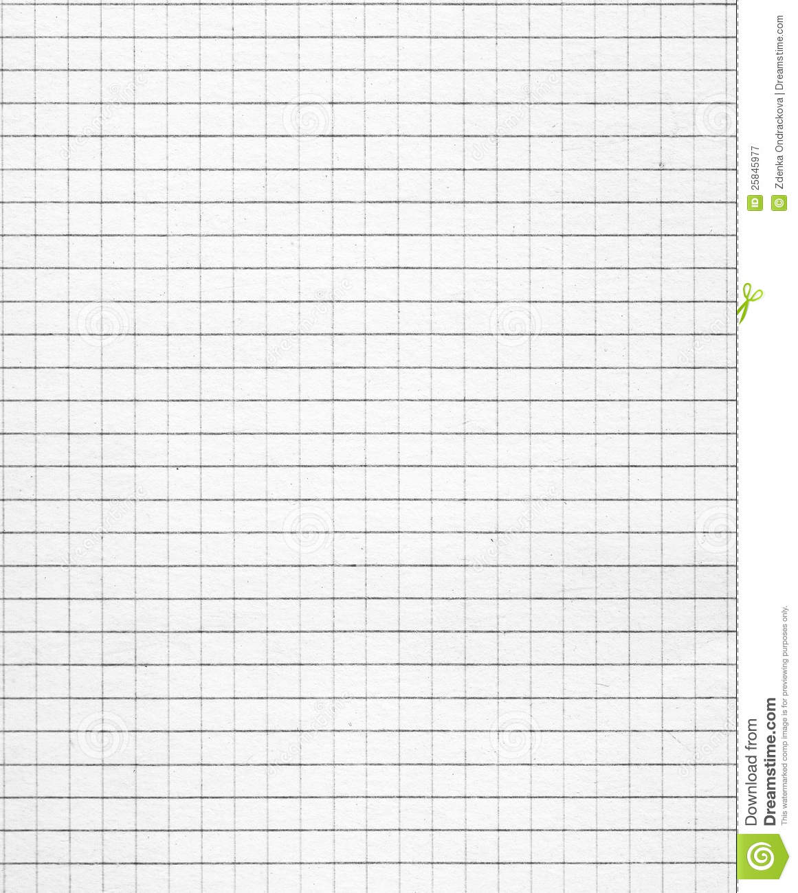 Squared White Paper Royalty Free Stock Photography Image 25845977