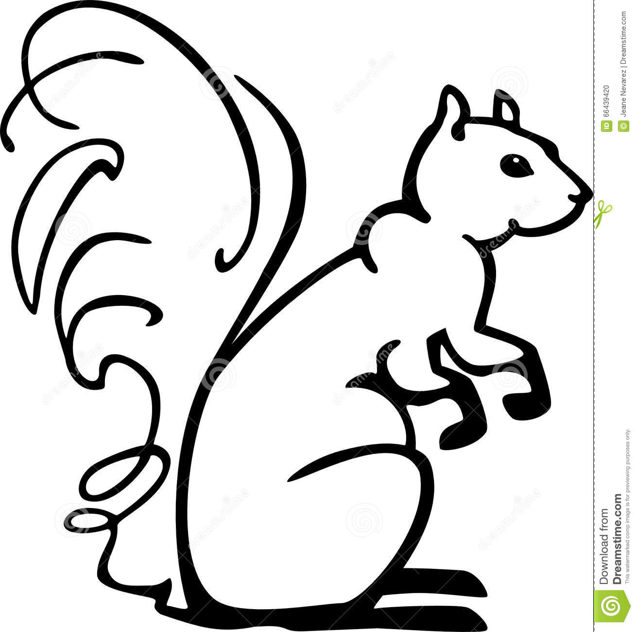 Stylized Squirrel Vector