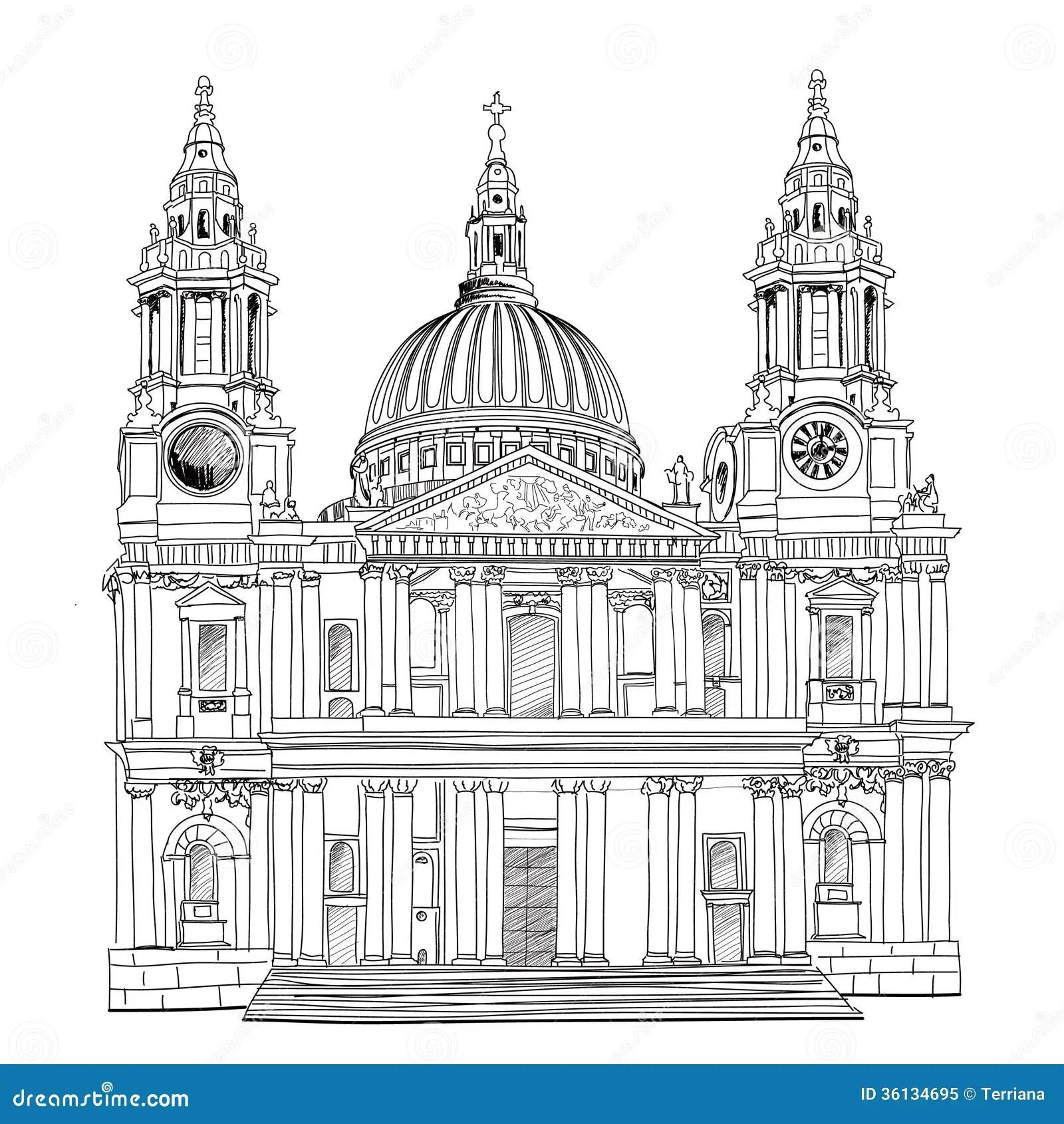 St Paul Cathedral Londres R U Eglise D Isolement Sur Le