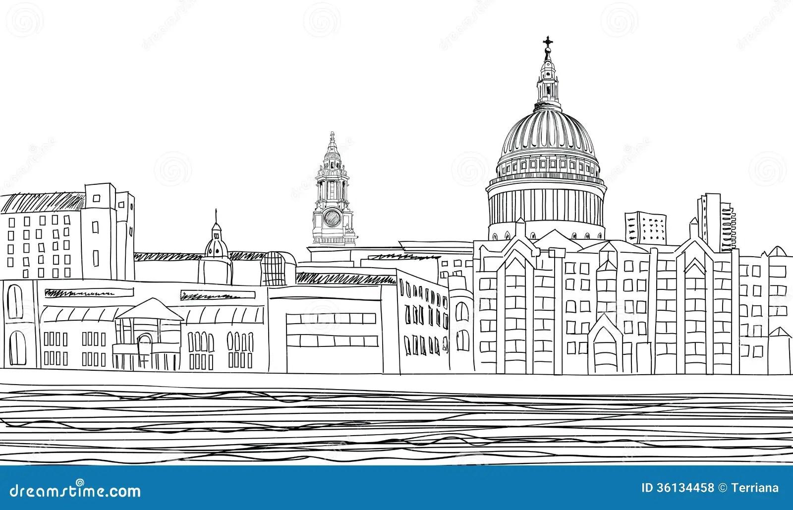 St Paul Cathedral Londres R U Fond De Paysage Urbain