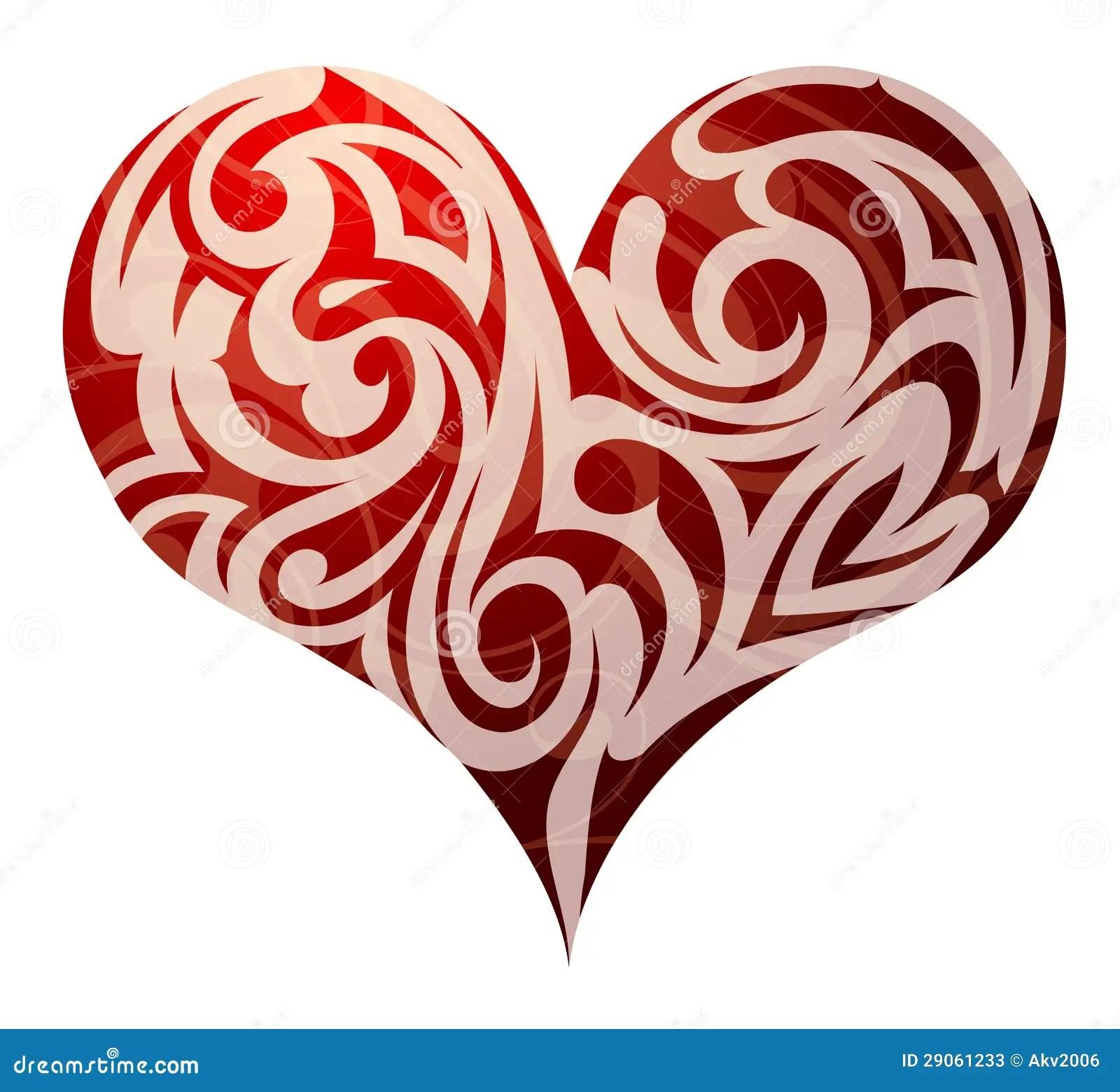 St Valentines Heart Shape Stock Vector Illustration Of