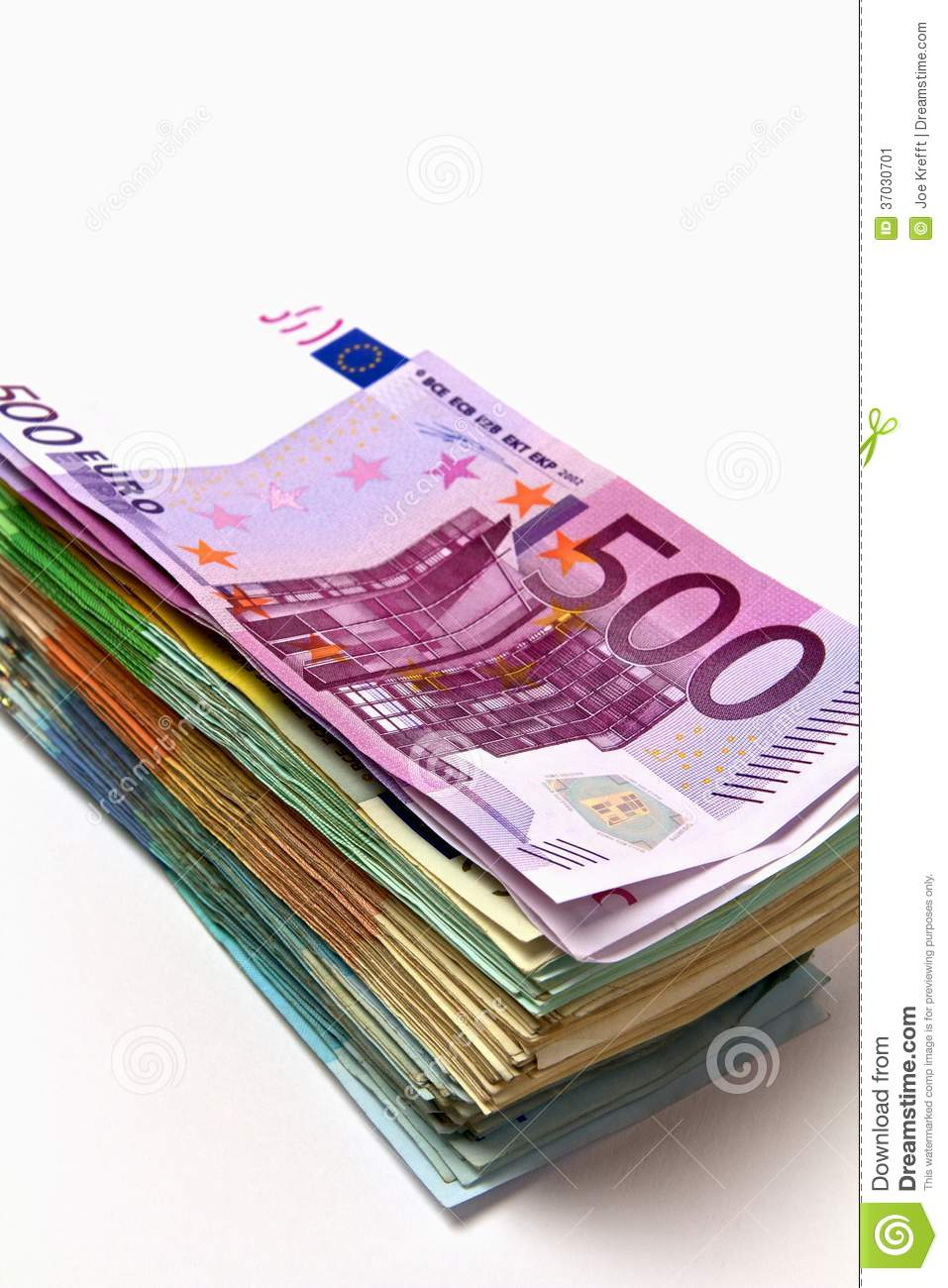 Stack Of Euro Money Stock Image Image Of Financial