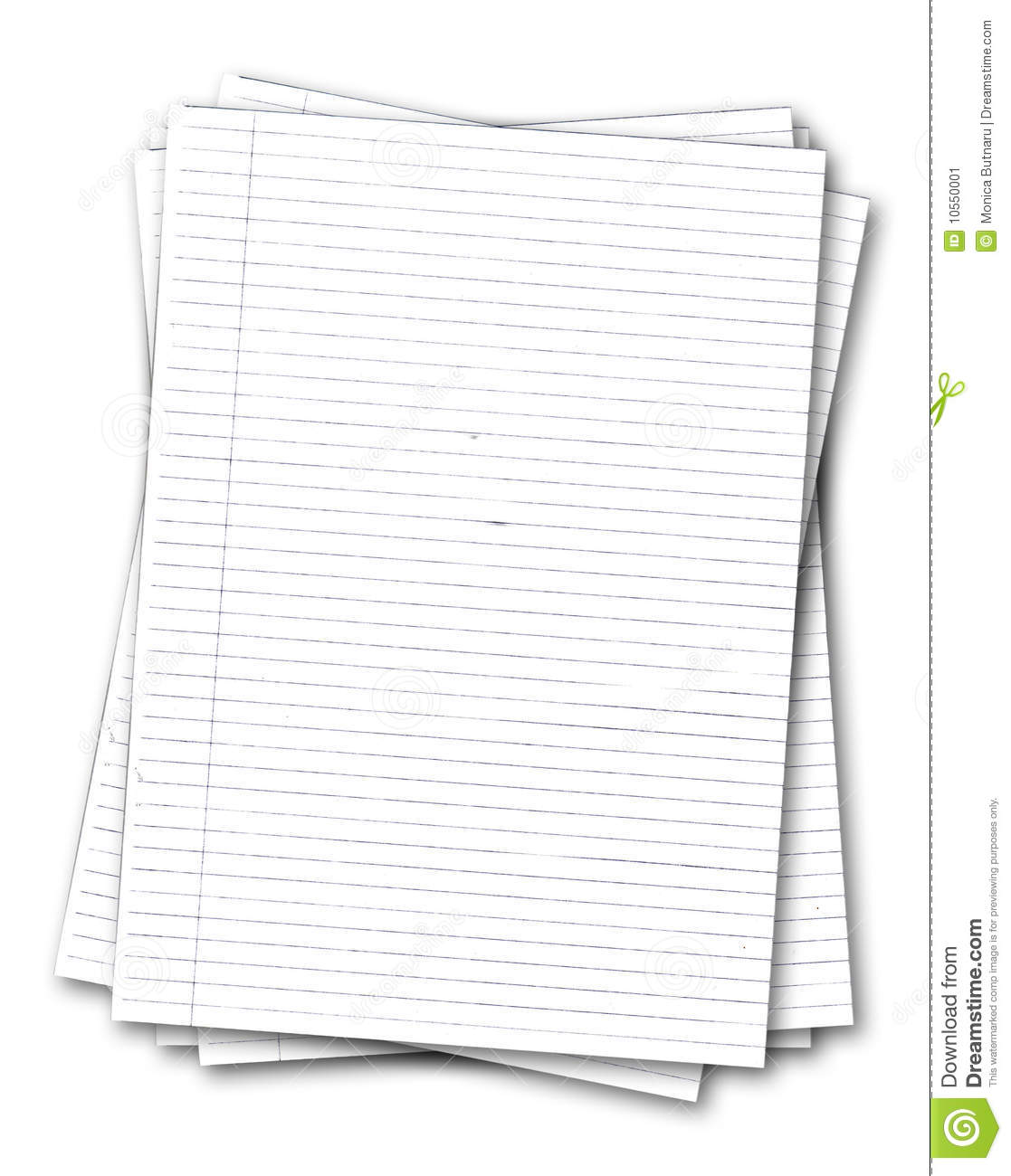 Stack Of Old Lined Papers Stock Image Image Of Office