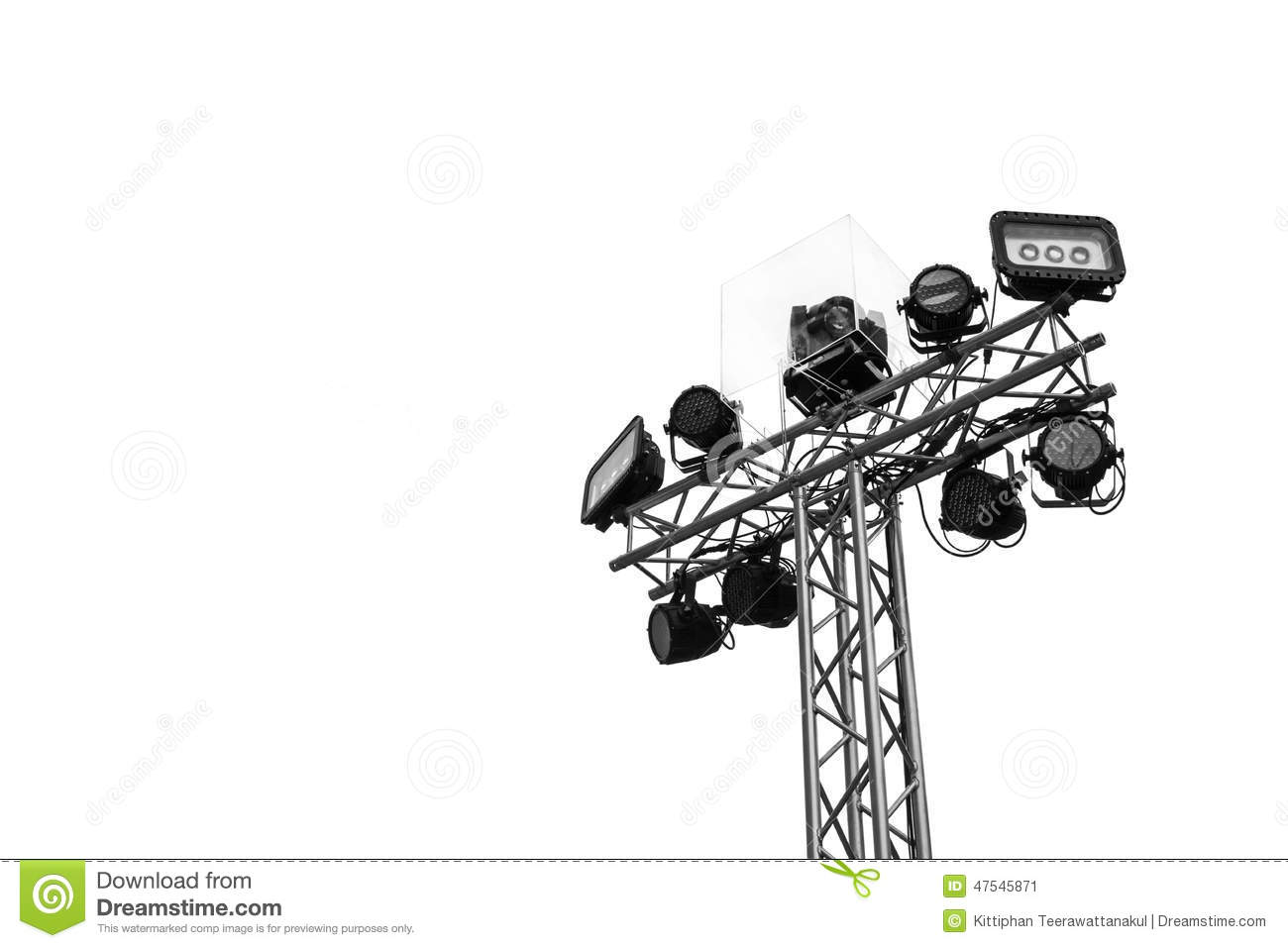 Stage Lights Isolated Stock Image Image Of Live Arena