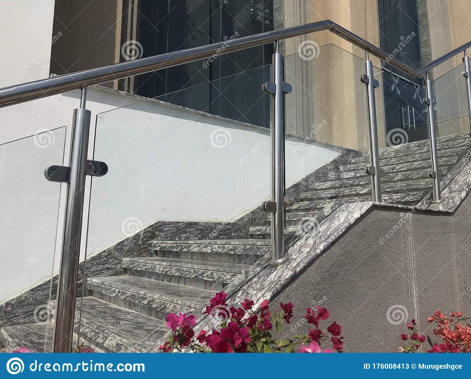 Stainless Steel Chrome Plated Finished Hand Rails With Glass | Glass And Chrome Staircase | Fusion | Black Stained | Frameless | Timber Glass | Glass Paneled