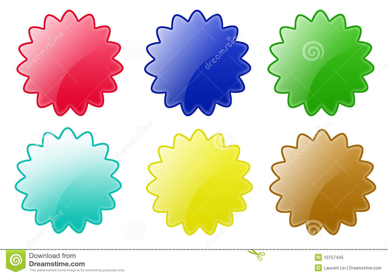 Star Circle Buttons Stock Illustration Image Of Glow