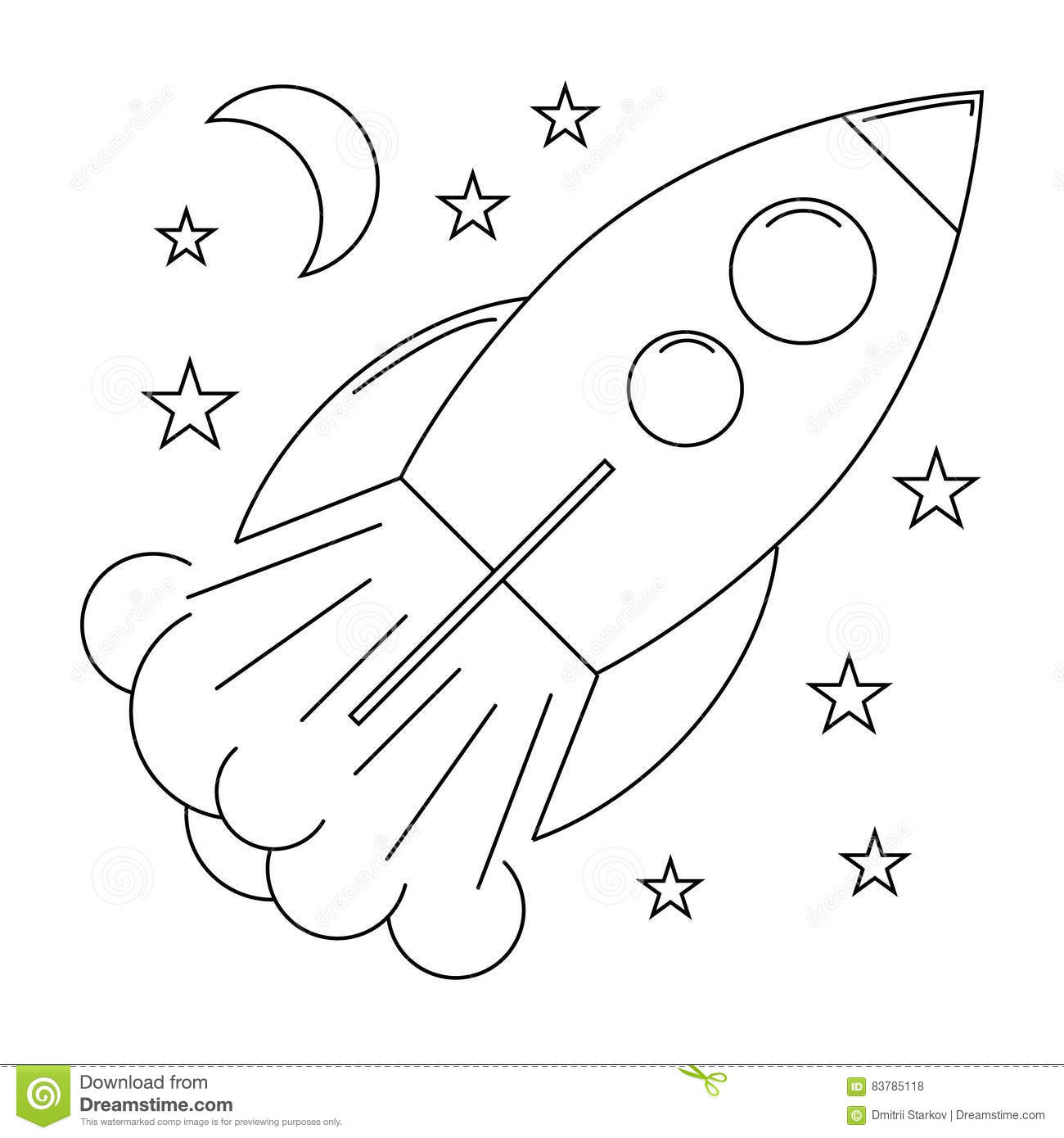 Start Up Rocket With Stars Stock Vector Illustration Of
