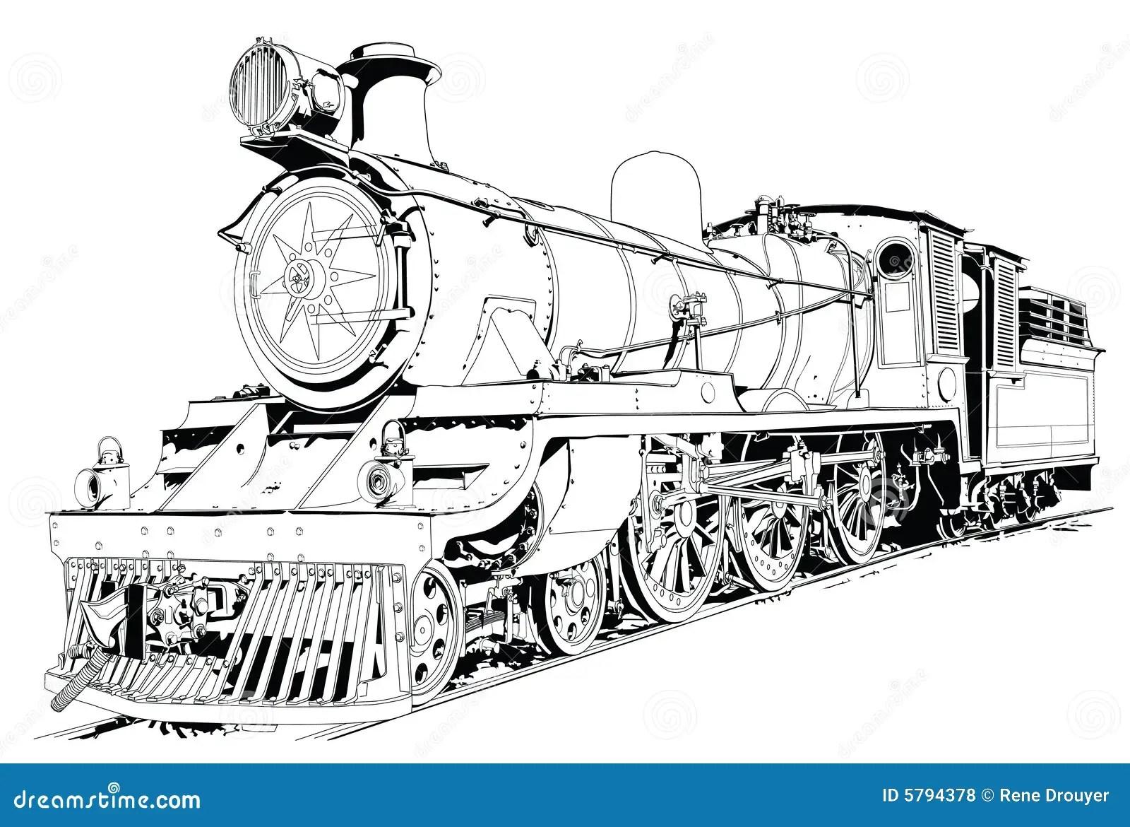 Steam Engine Powered Train Royalty Free Stock Photos