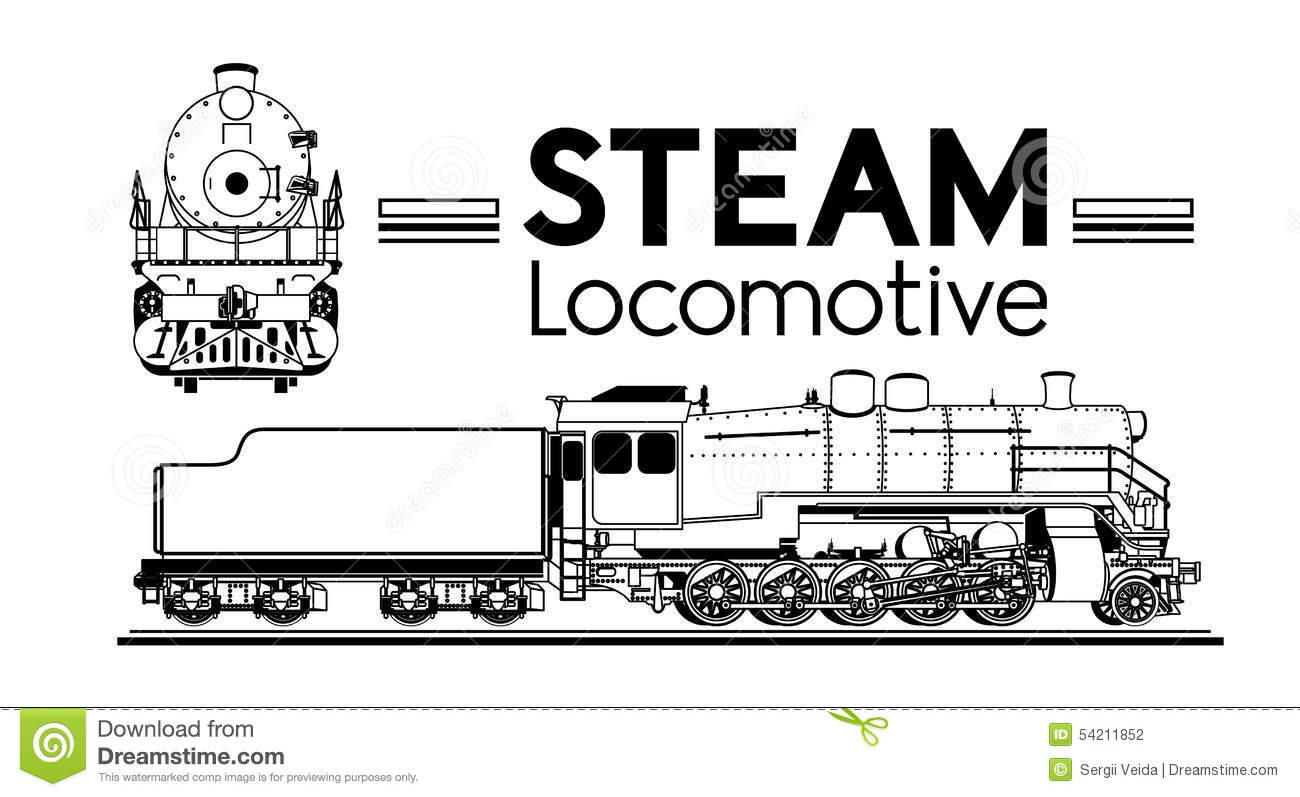 Steam Locomotive Stock Vector Illustration Of Classic