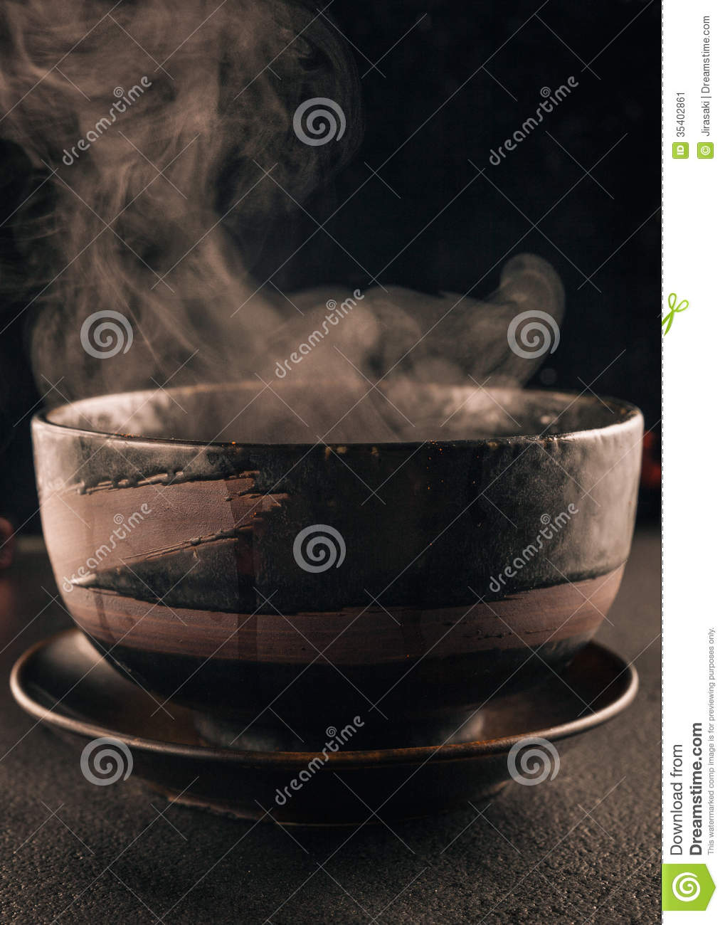 Steamy Soup Bowl Stock Image Image Of Table Food Steamy 35402861