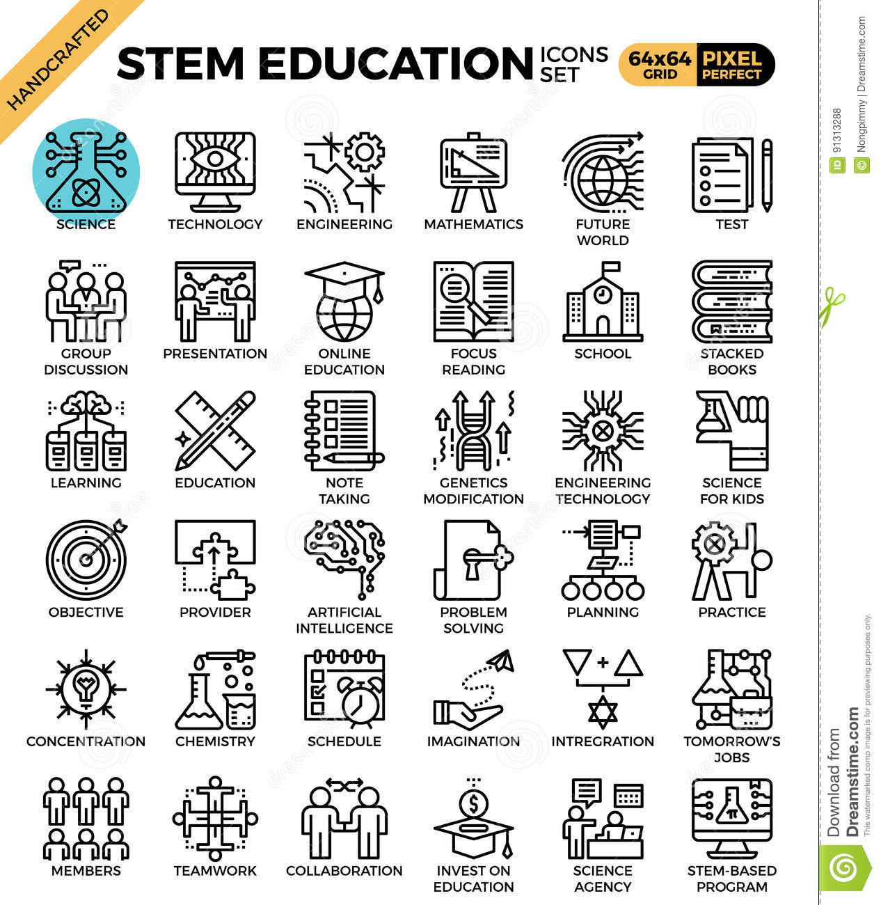 Stem Science Technology Engineering Math Education Stock