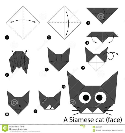 Origami Cat Face Bookmark Tutorial Origami Handmade