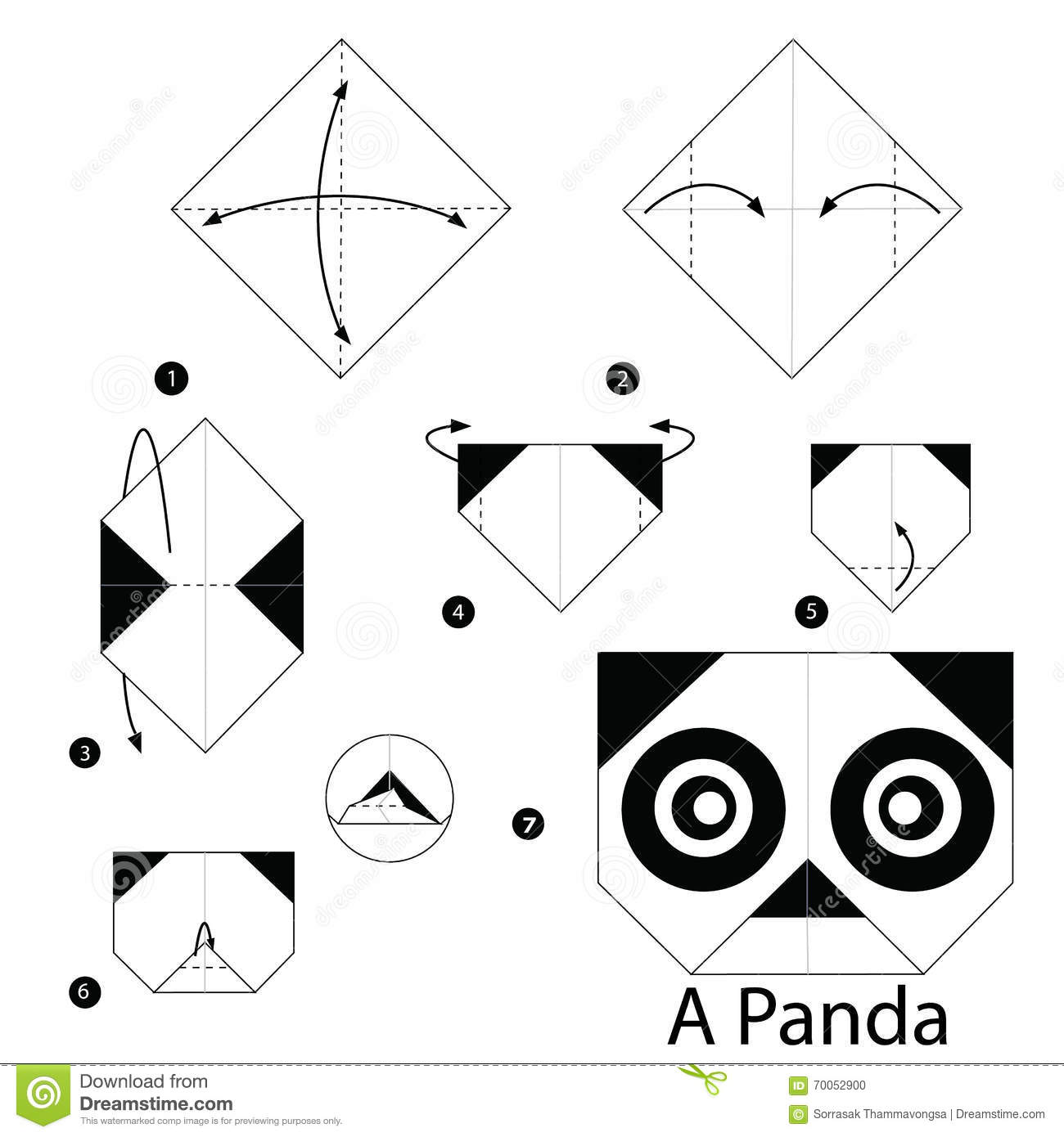 Step By Step Instructions How To Make Origami A Panda