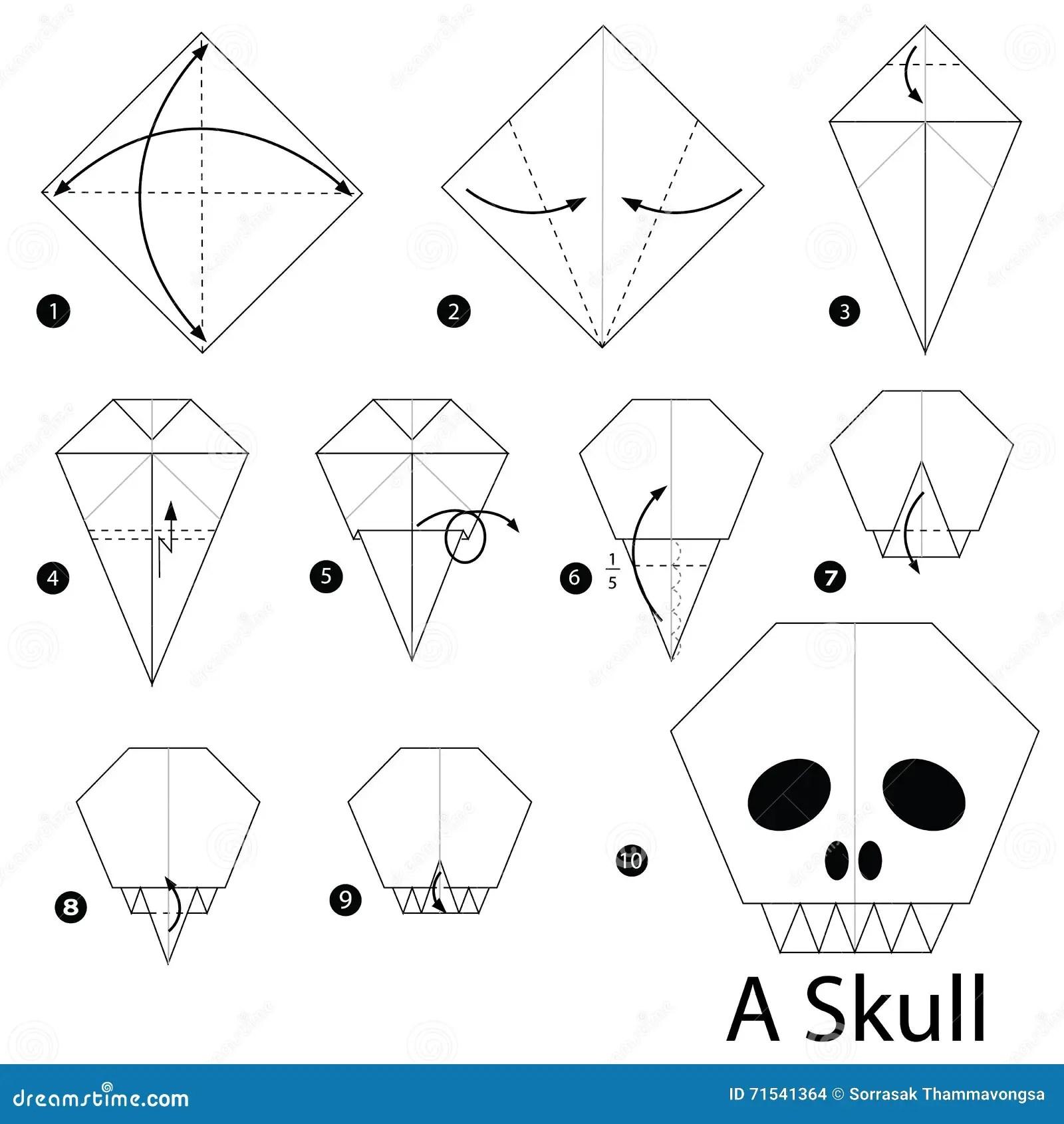 Origami Skull Instructions