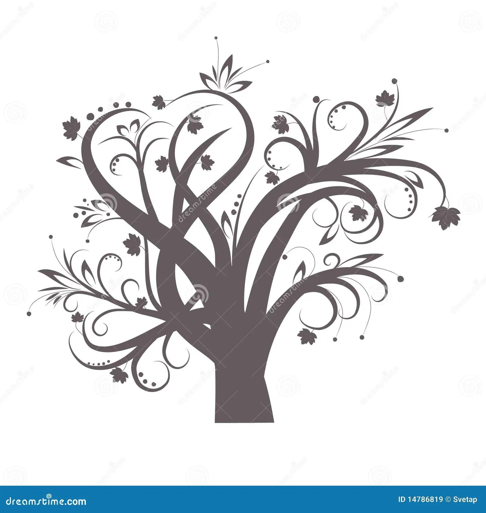 Stilisiert Baum Vektor Abbildung Illustration Von Garten