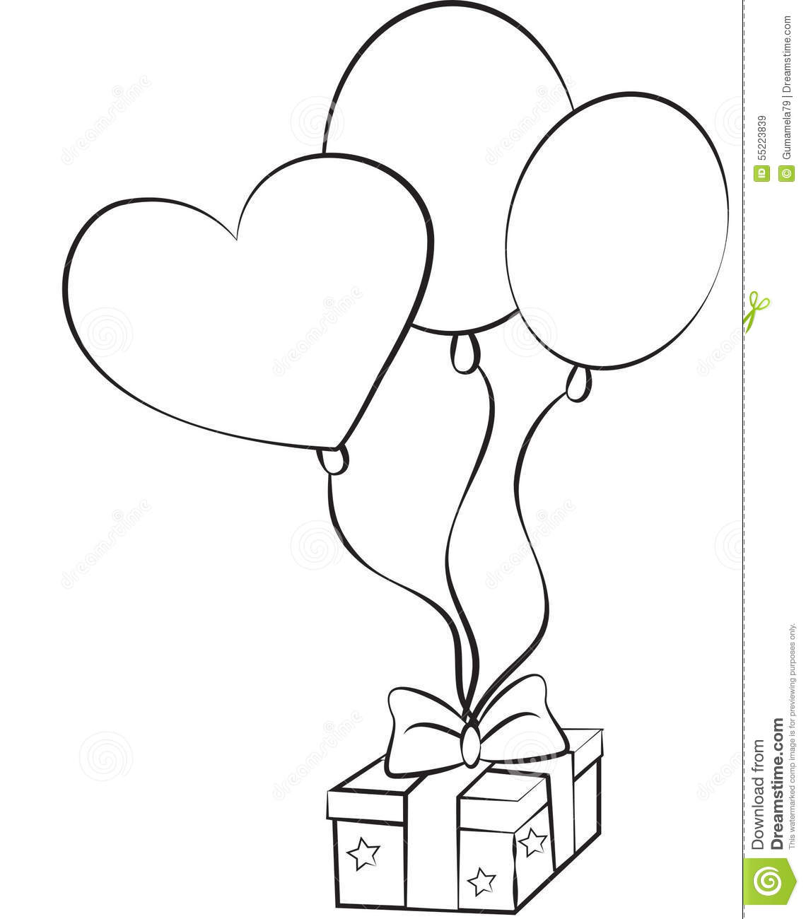 Stock Image Birthday Balloons And T Stock Illustration