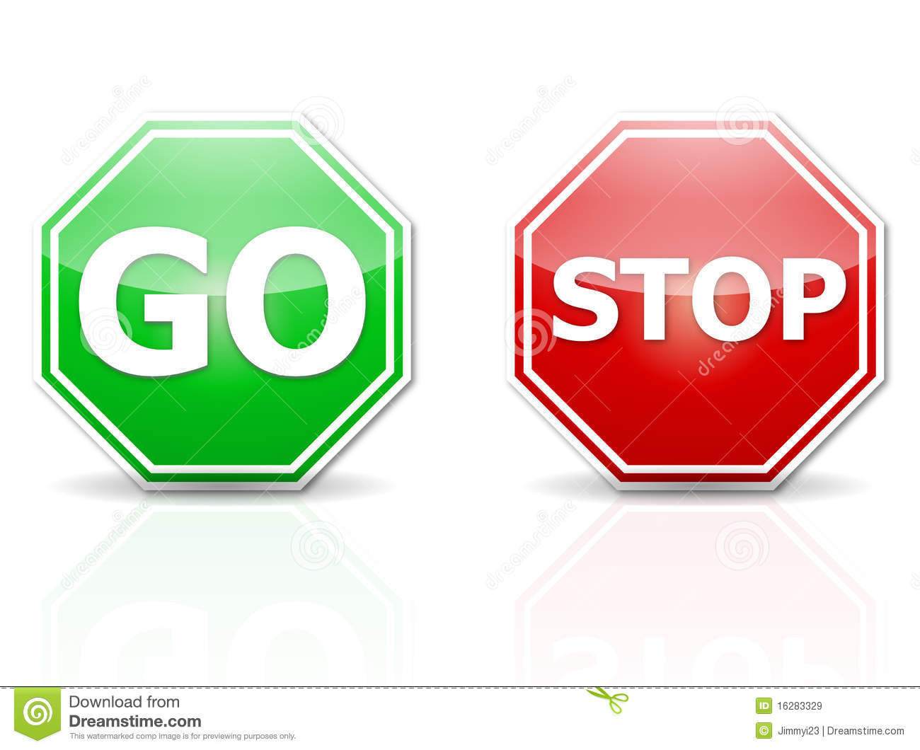 Stop And Go Stock Vector Illustration Of Artwork Drive