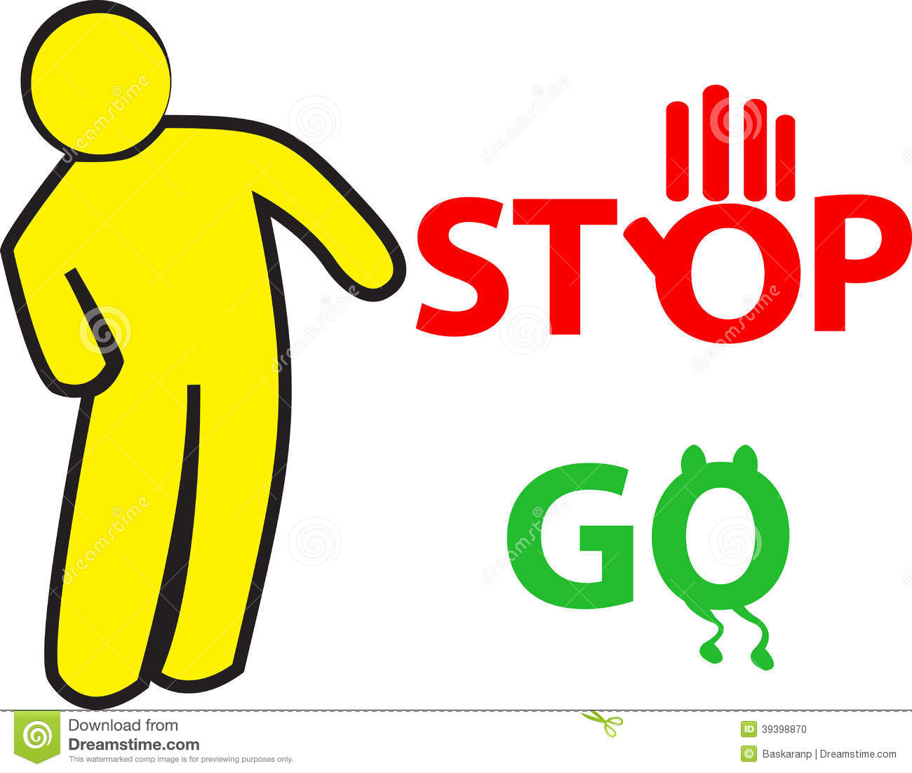 Stop And Go Sign Stock Vector Illustration Of Positive