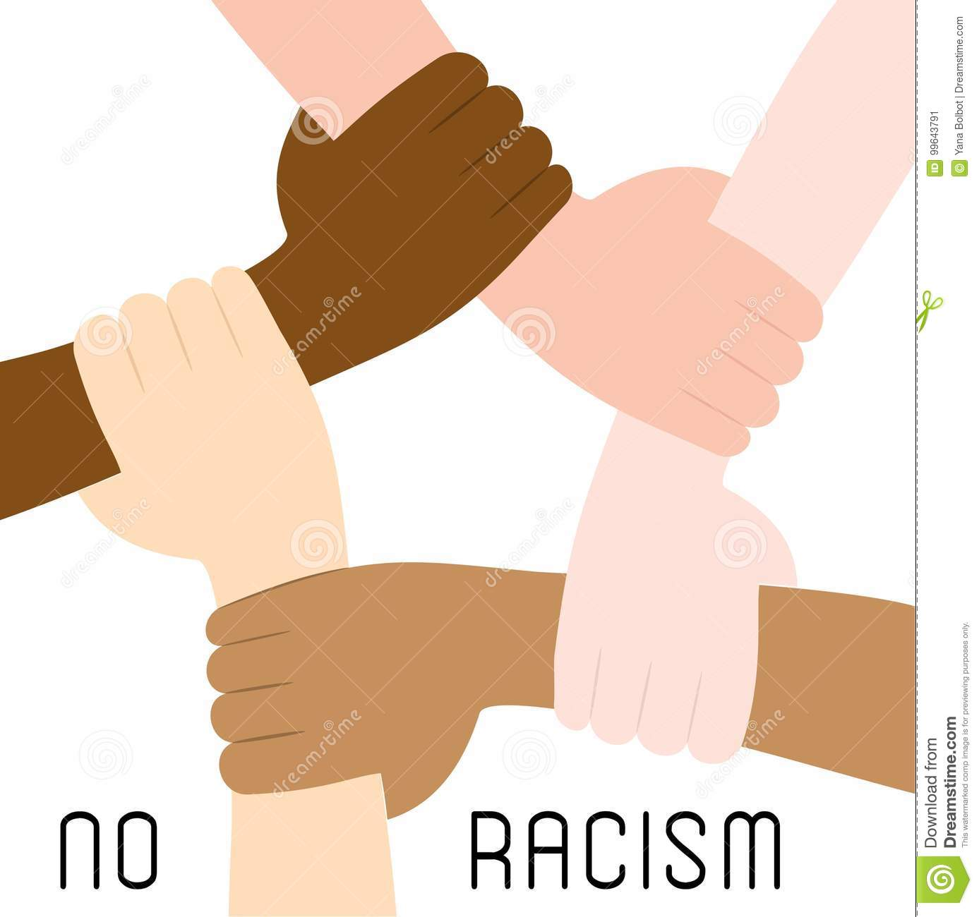 Stop Racism Icon Poster Stock Vector Illustration Of