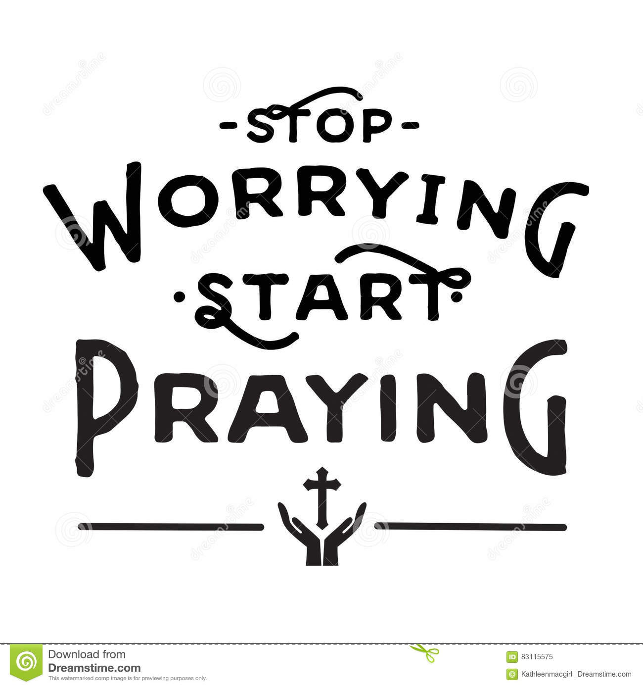 Stop Worrying Rubber Stamp Stock Photo