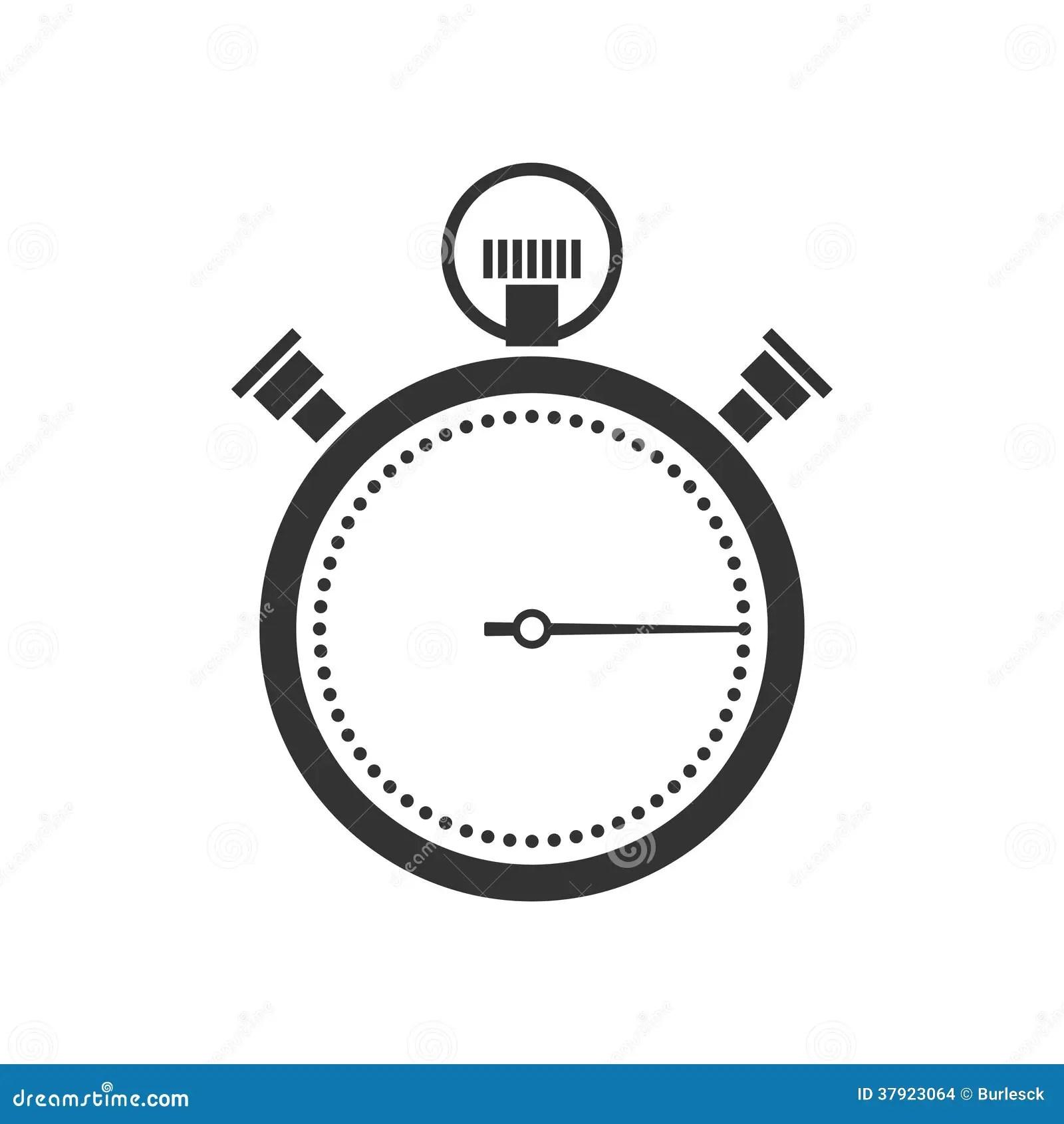 Stoppuhr Oder Chronometerikone Vektor Abbildung