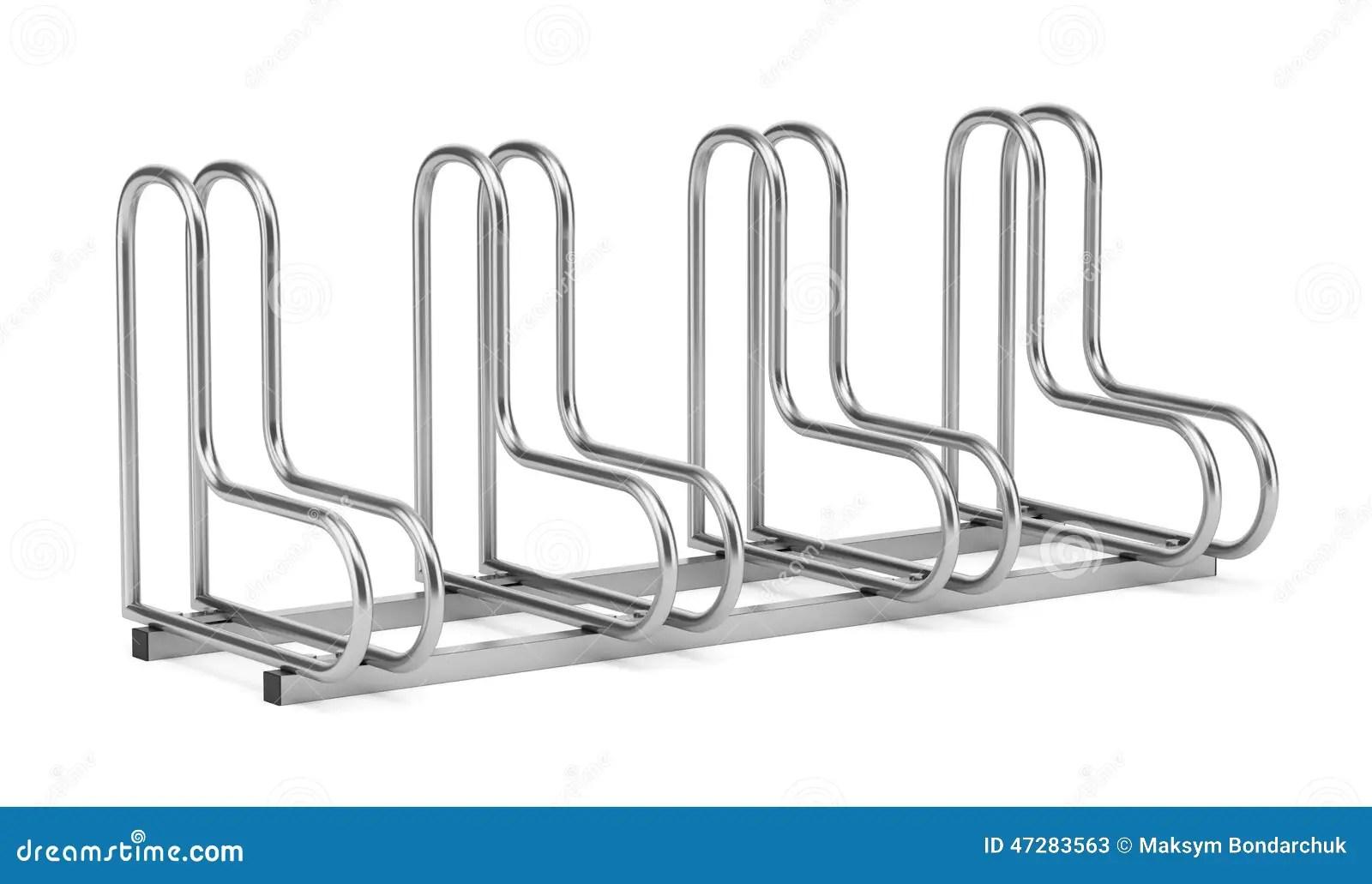 Street Bicycle Rack On White Stock Illustration