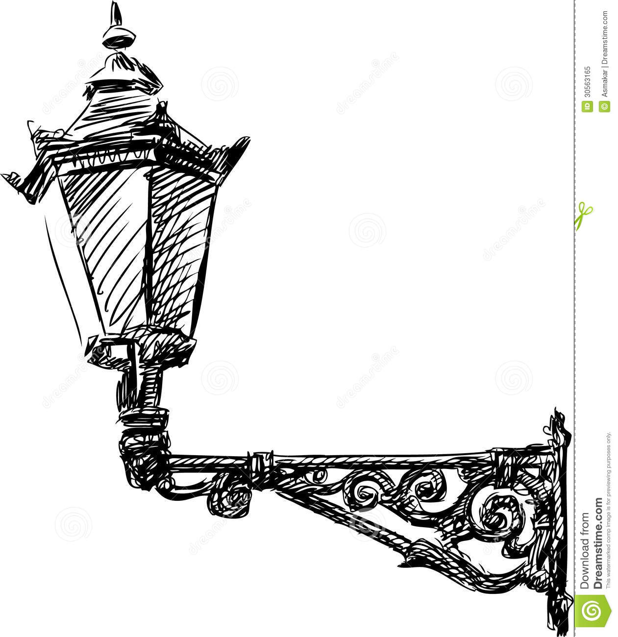 Street Light Stock Vector Illustration Of Doodle Lamp