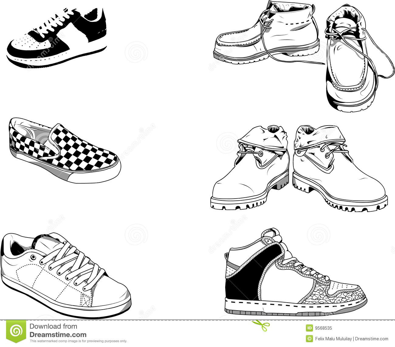 Street Men Shoes Royalty Free Stock Photo