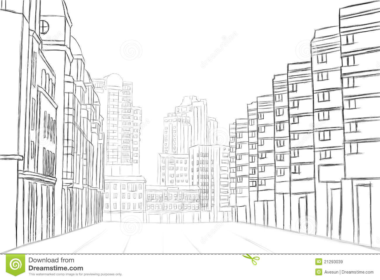 Street Sketch Stock Illustration Image Of Abstract
