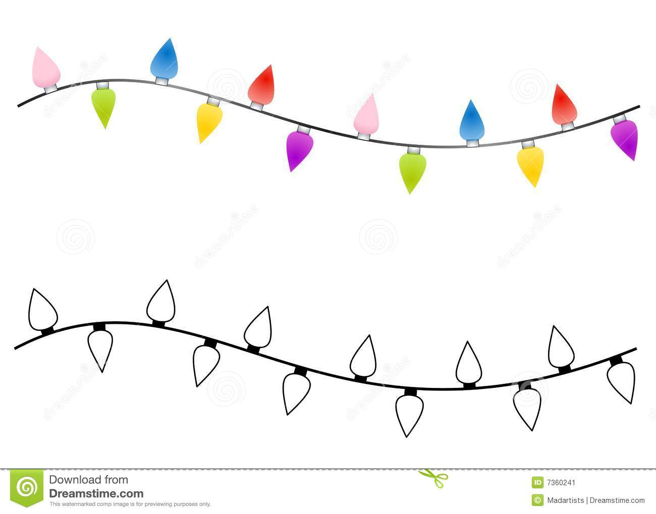 Strings Of Christmas Lights Stock Illustration