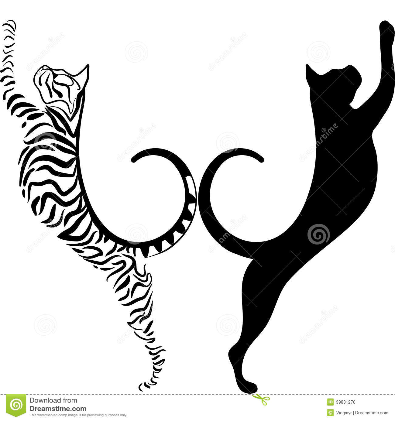 Striped Cat Stock Vector Image 39831270