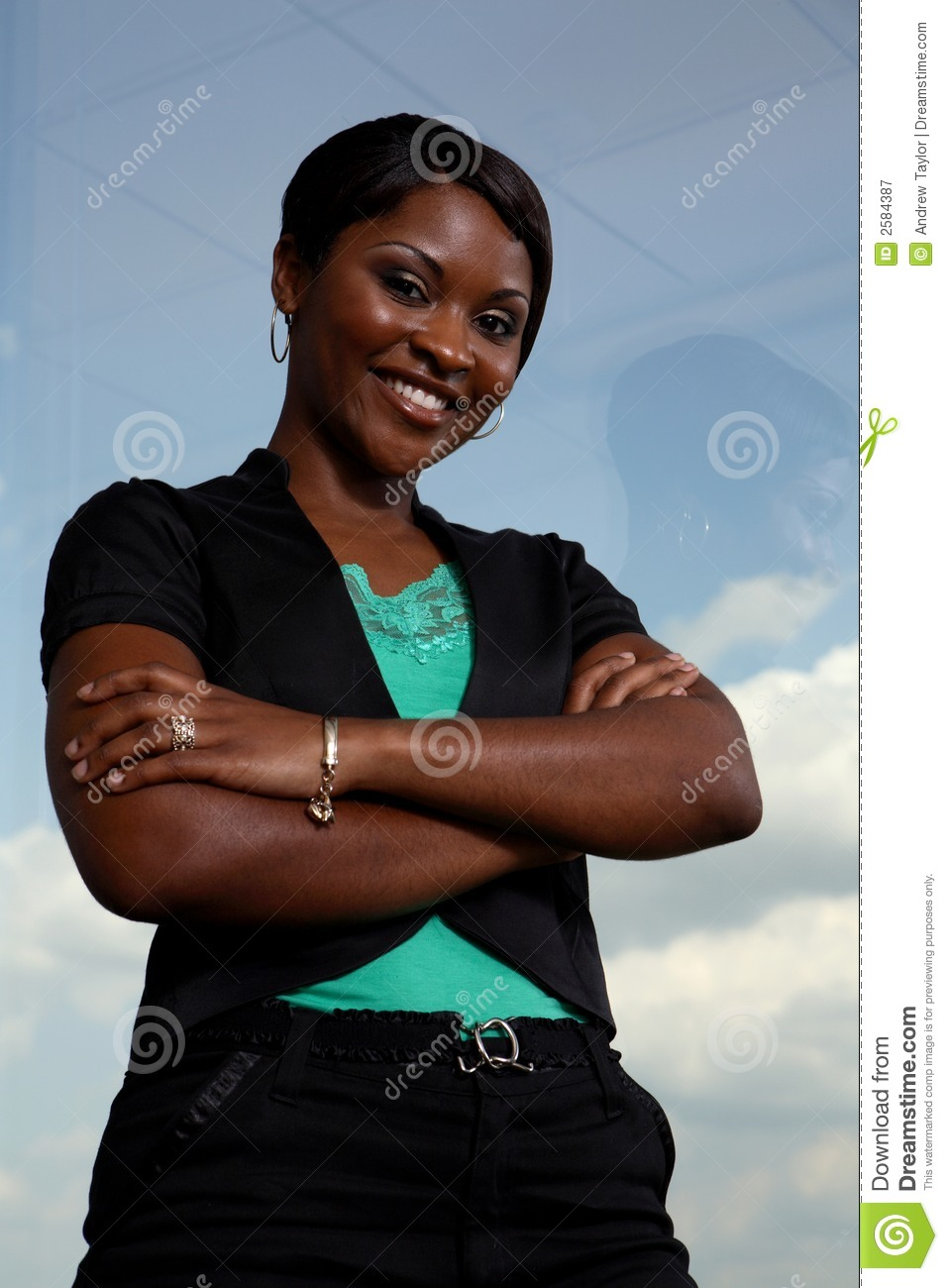 Strong Black Business Woman Stock Image Image Of