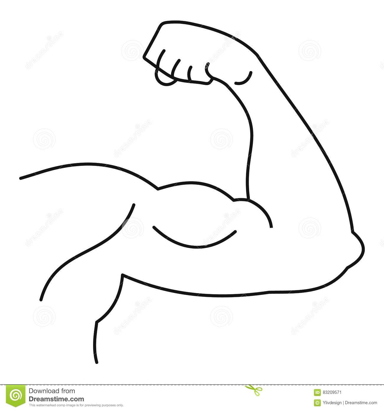 Strong Hand Muscle Icon Simple Style Stock Vector
