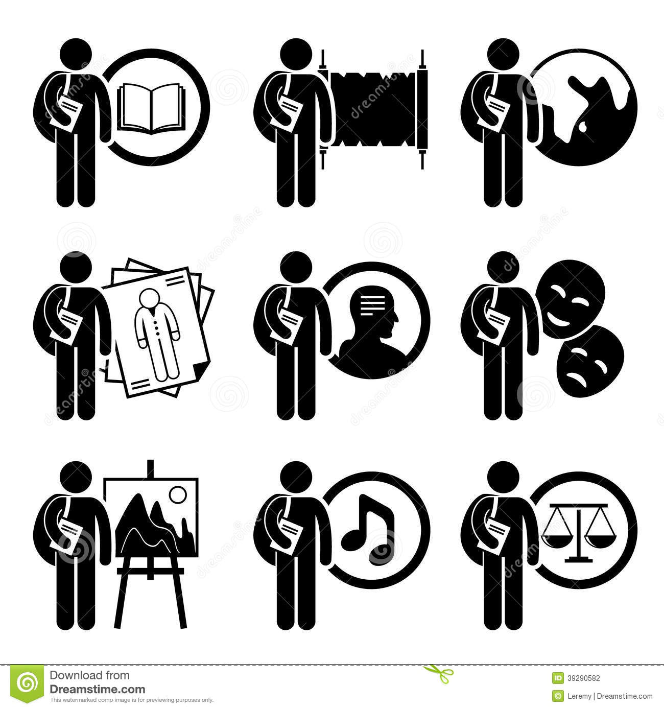 Student Degree In Arts And Humanities Stock Vector