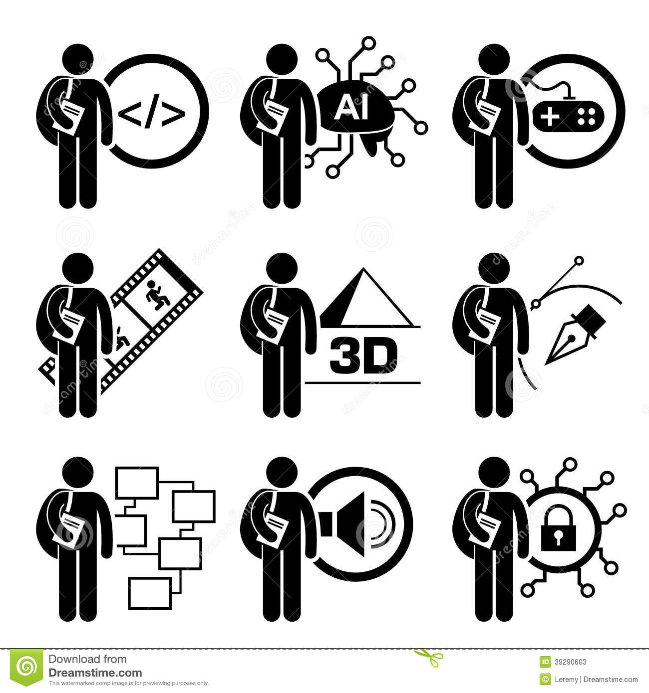 Student Degree In Information Technology Stock Vector