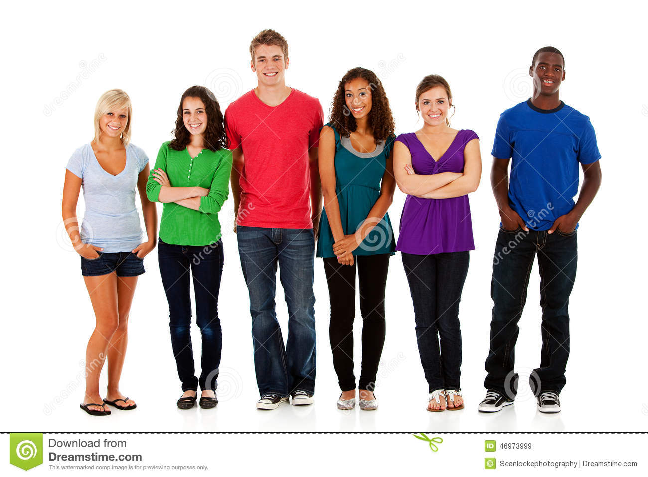 Students Multi Ethnic Group Of Teen Students Stock Image