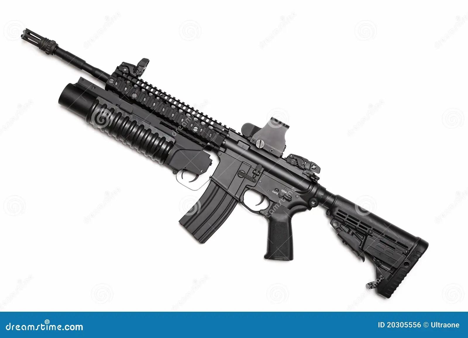 Sturmgewehr Us Spezifikt Ops M4a1 Stockfoto