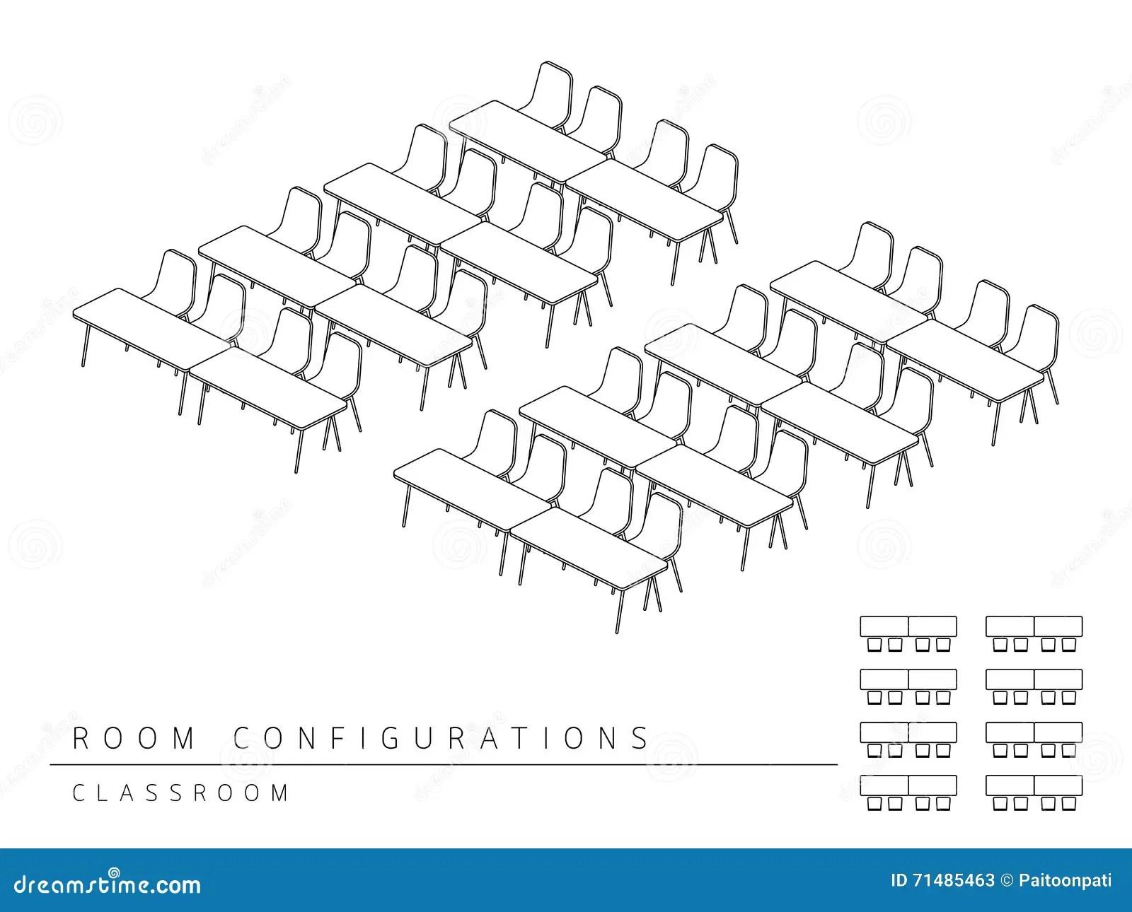 Style De Salle De Classe De Configuration De Disposition D