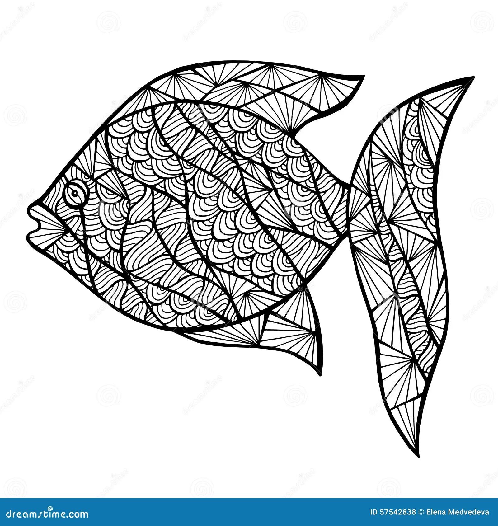 Stylized Vector Fish Zentangle Stock Vector Image 57542838