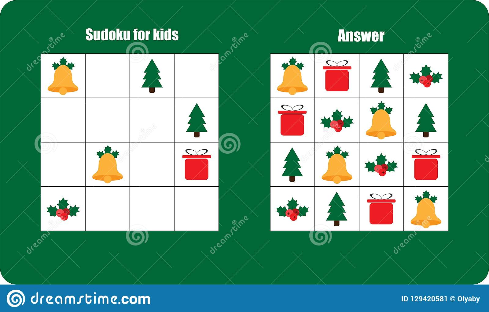 Sudoku Game With Christmas Pictures Bell T For