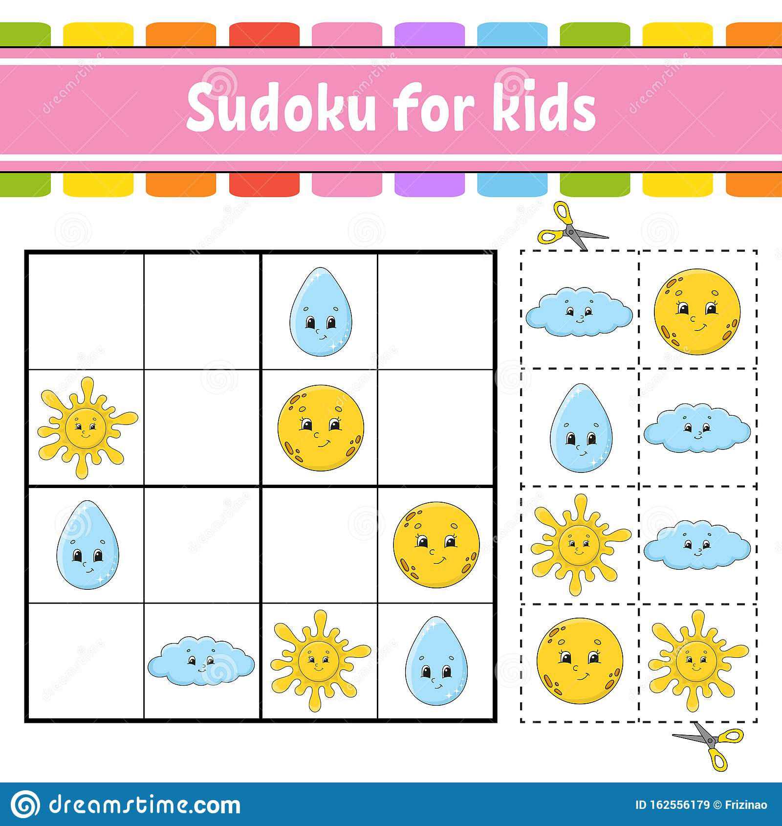 Sudoku For Kids Education Developing Worksheet Activity