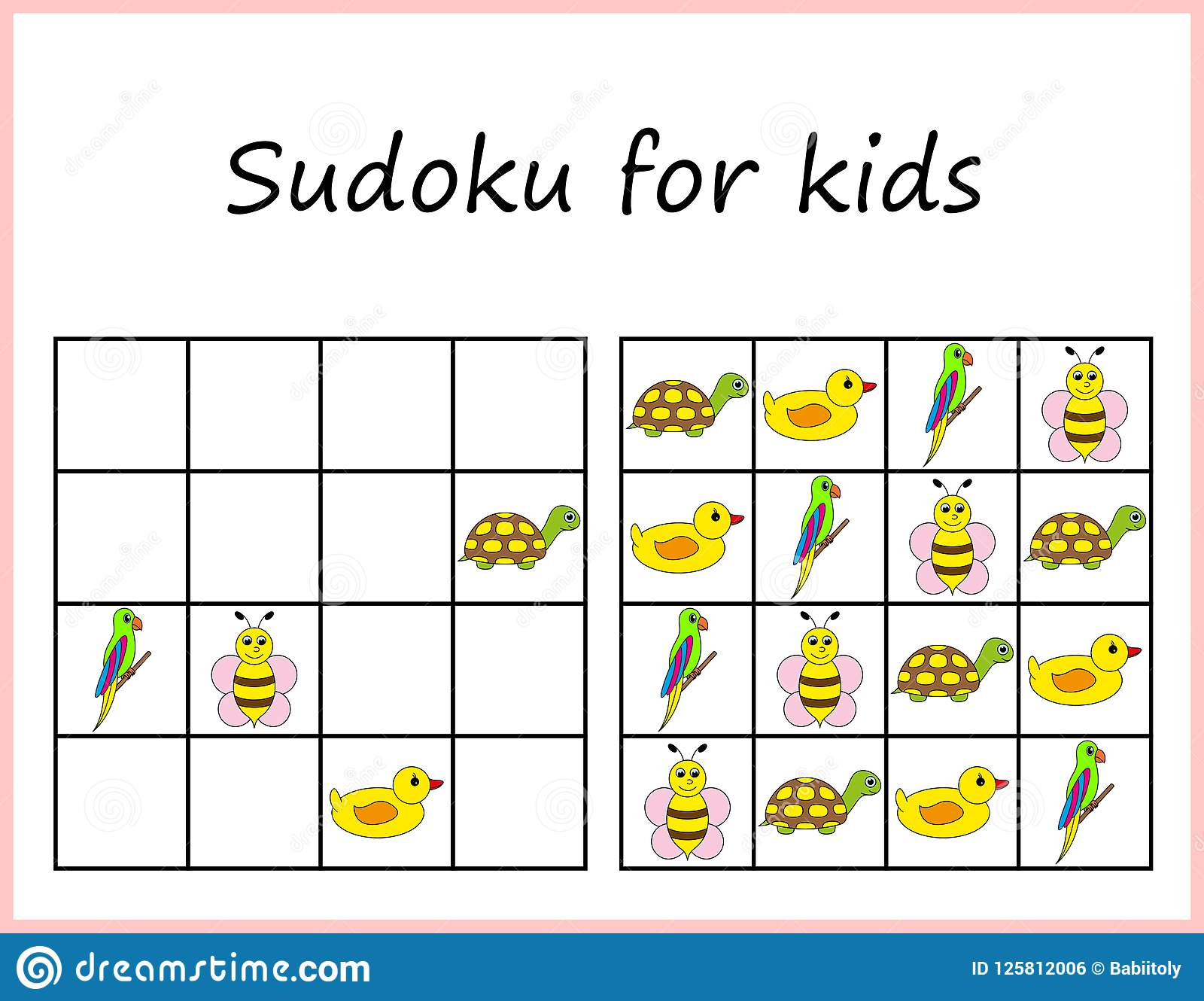 Sudoku For Kids Game For Preschool Kids Training Logic