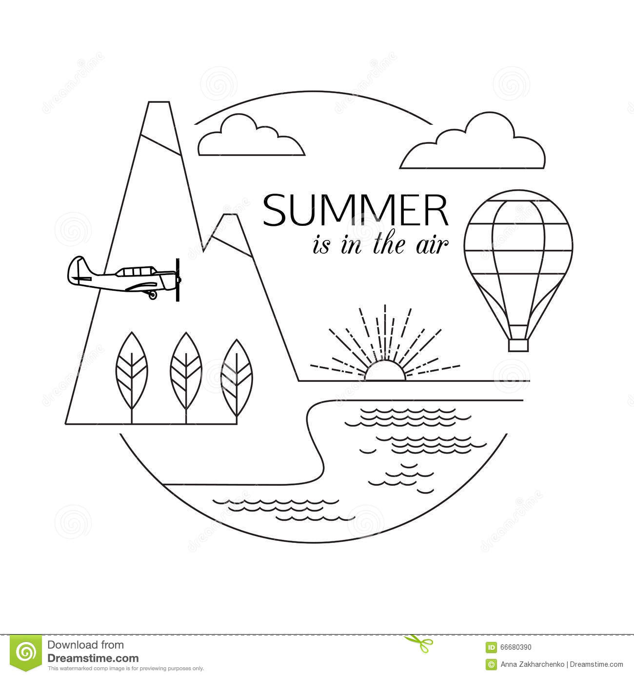 Summer Is In The Air Air Travel And Tourism Outline