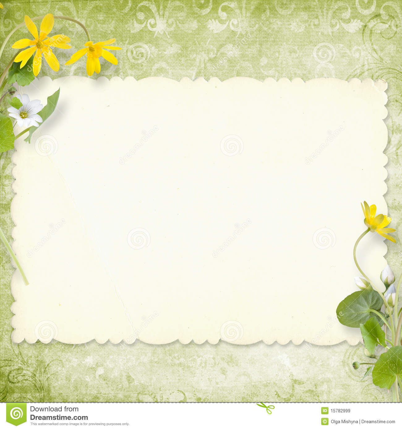 Summer Background With Area For Your Text Stock Image