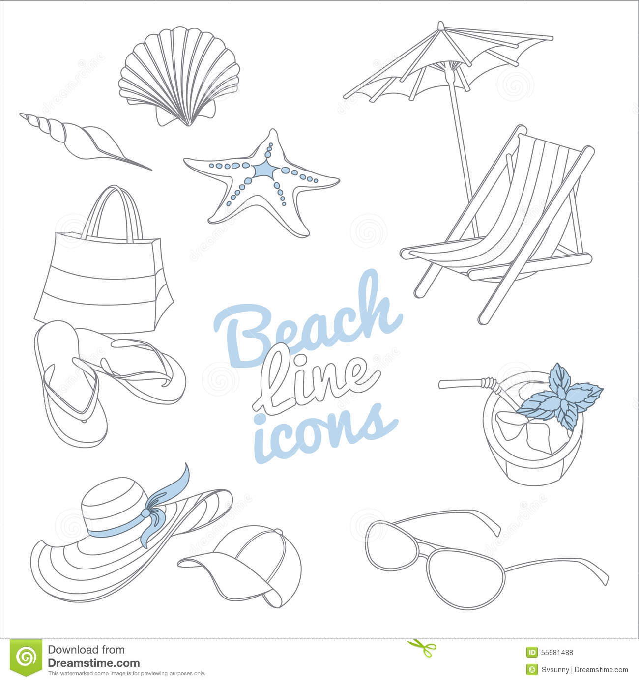Summerbeach Clipart Clip Art Beach Summer Cute Doodles