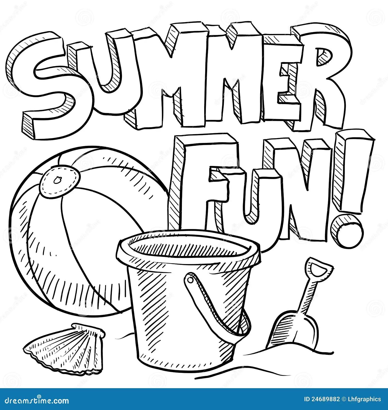 Summer Fun At The Beach Vector Stock Photography