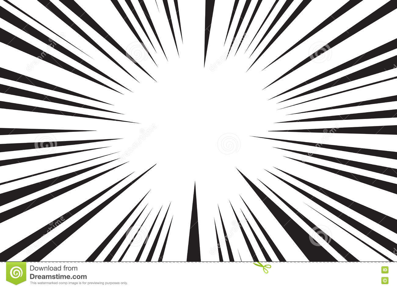 Sun Rays For Comic Books Radial Background Vector Stock