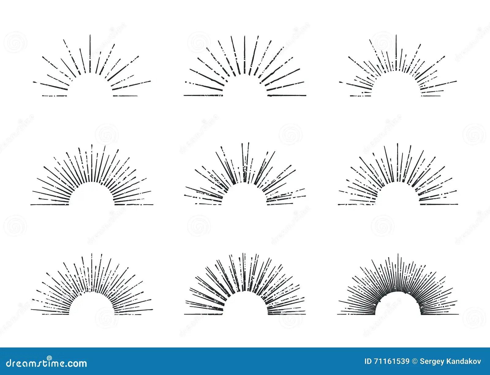 Sunburst Vector Set Stock Illustration Illustration Of