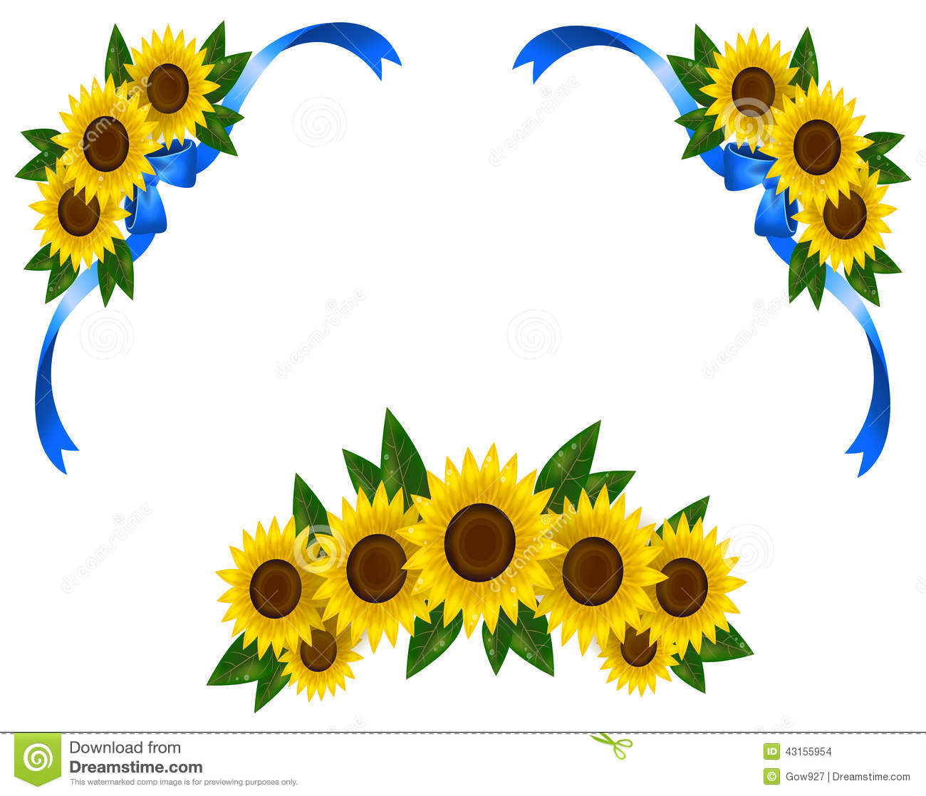 Sunflower Wallpaper Border