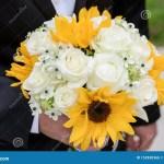 Sunflower Wedding Bouquet Stock Photo Image Of Bouquet 152830366